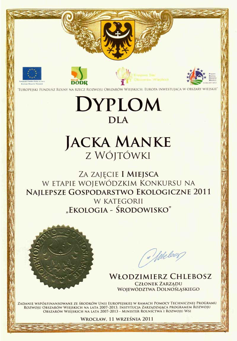 Najlepsze Gospodarstwo Ekologiczne 2011